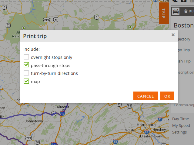 Your Printout Will Also Contain A Map When The Option Map Is Selected The Map Included In The Printout Is In The Same Scale As Displayed On The Screen