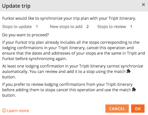 plan trip itinerary