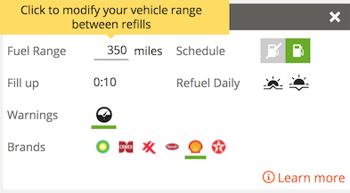 Avoid running out of gas | Road Trip Planner | Furkot Help
